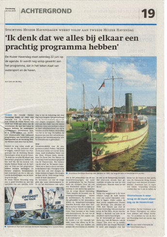Huizer Havendag in de media
